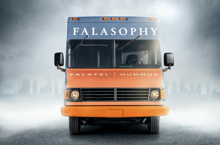 Falasophy food truck branding by Design Womb in California