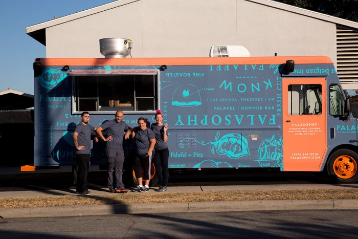 Falasophy food truck branding grits grids for Design your food truck