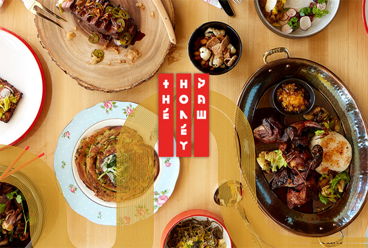 The Honey Paw noodle restaurant branding by Might & Main in Maine, USA