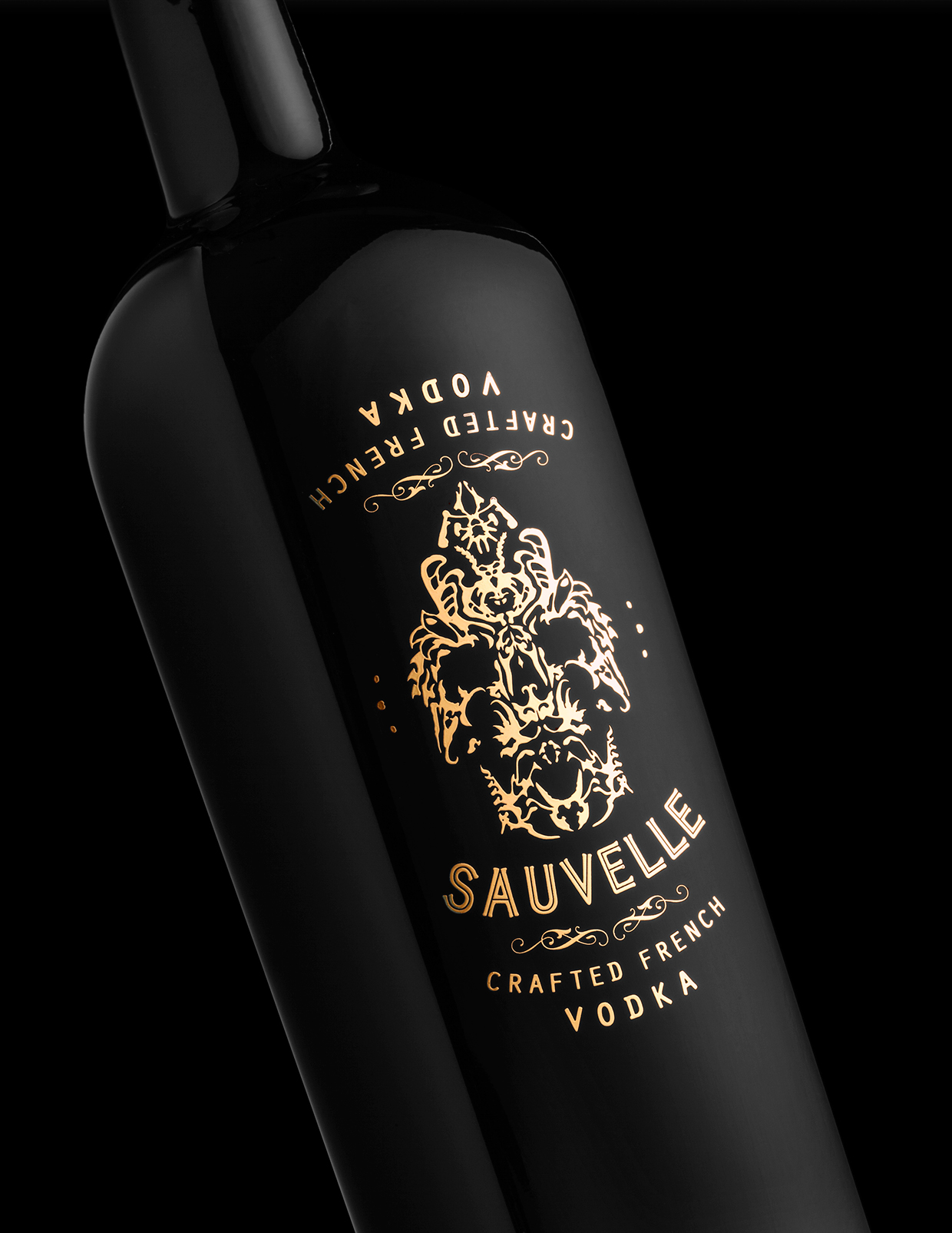 Sauville Vodka branding & package design by Stranger & Stranger in New York, NY USA