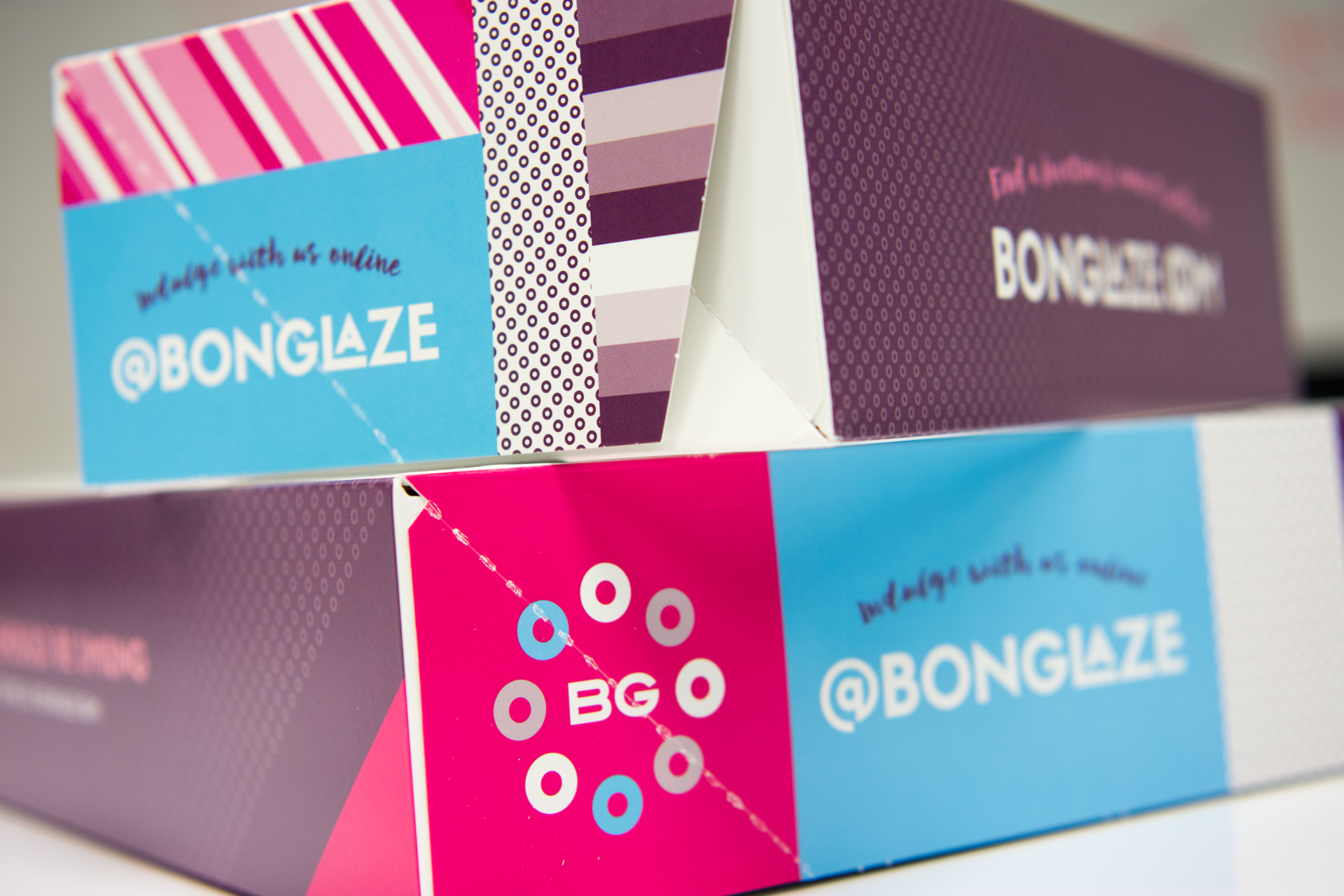 Bon Glaze doughnut and coffee restaurant branding and package design by Vigor in Atlanta, Georgia