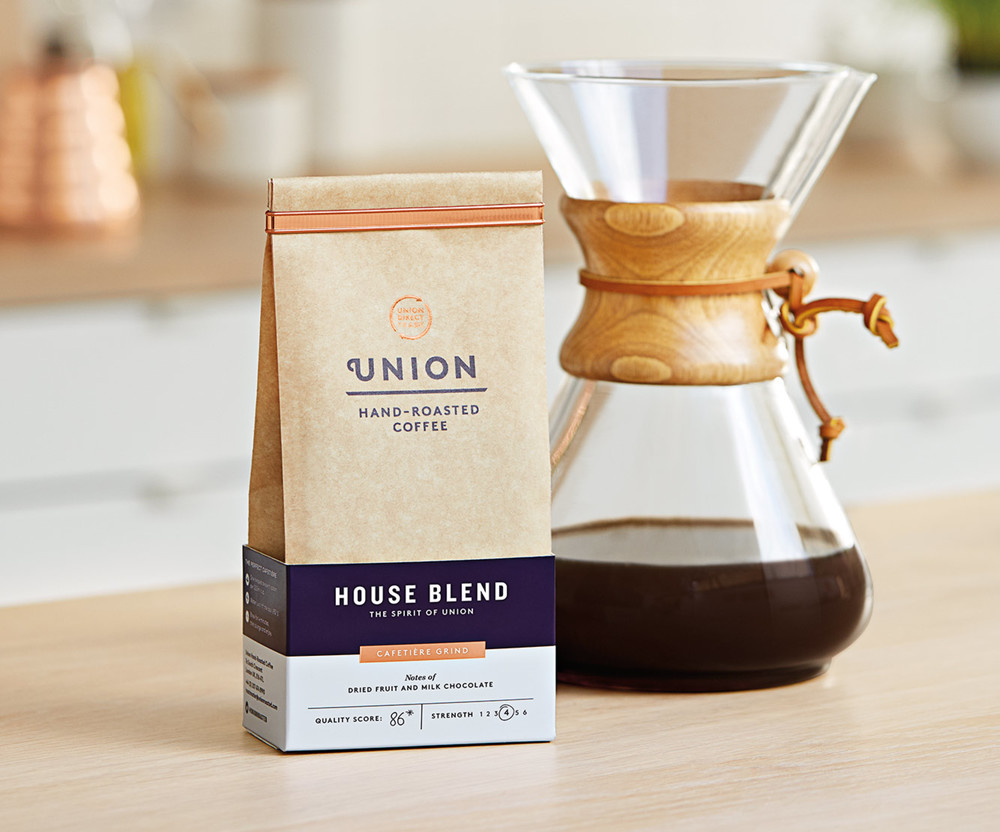 Union Coffee rebranding by Studio Output in London, United Kingdom