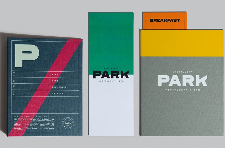 Park restaurant branding by Glasfurd Walker in Vancouver, British Columbia Canada