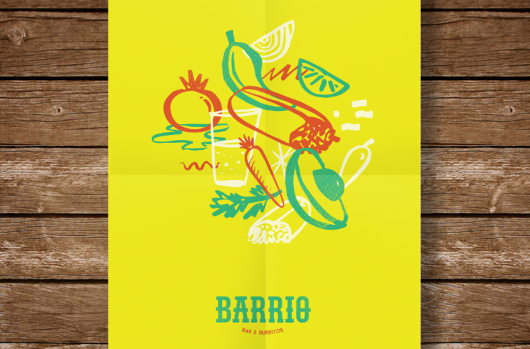 Barrio bar and restaurant branding in Buenos Aires, Argentina by Hola Bosque