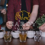 Hardy Coffee company branding and packaging by Fruitful Design