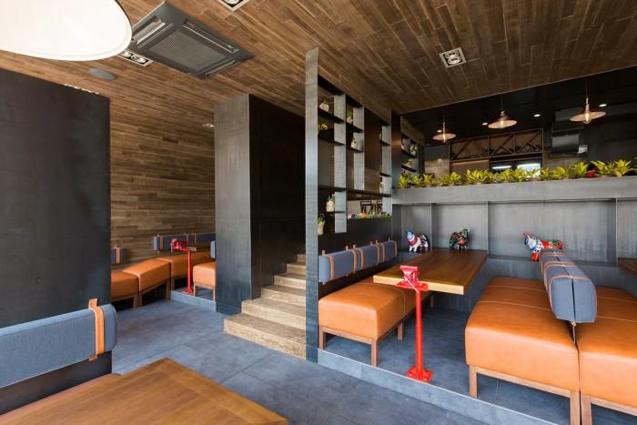 The village restaurant interior design grits grids