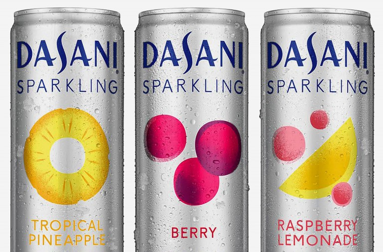 Dasani® Sparkling water branding and package design by Moniker in San Francisco, USA