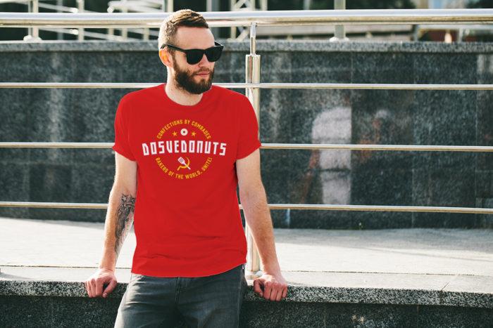 Dosvedonuts funny restaurant tshirt design