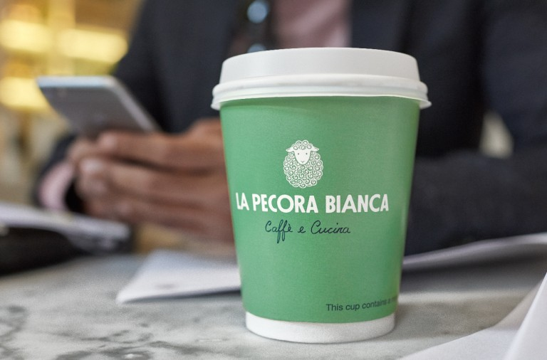 La Pecora Bianca restaurant and cafe branding and design by Pentagram in New York