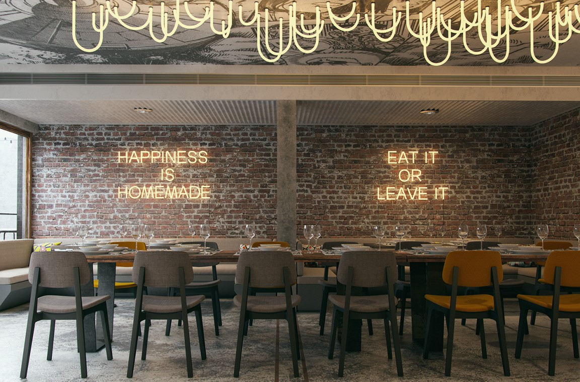 Firefly restaurant interior design grits grids - Interiors by design picture frames ...