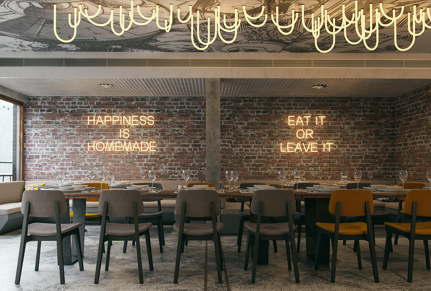 Firefly restaurant interior design grits grids
