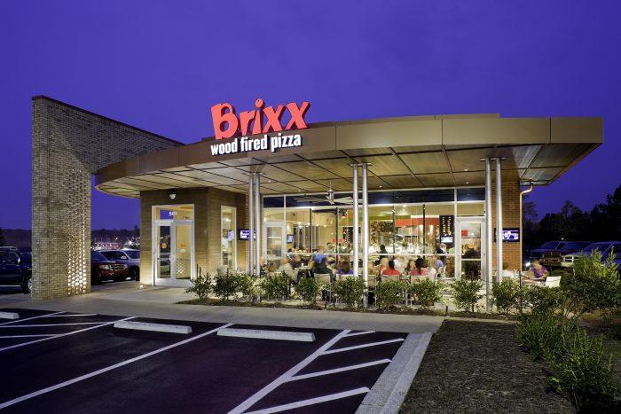 Brixx pizza restaurant architecture and interior design