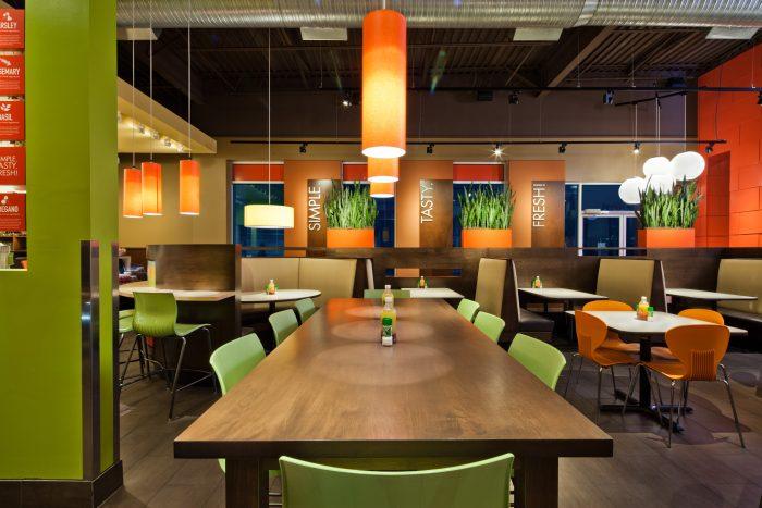 Zoe's Kitchen restaurant interior design