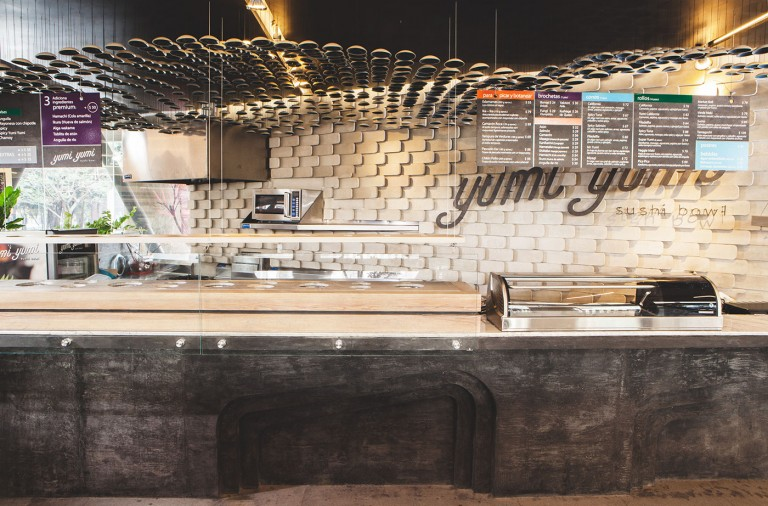 Yumi Yumi japanese restaurant branding and interiors in Mexico DF, Mexico City
