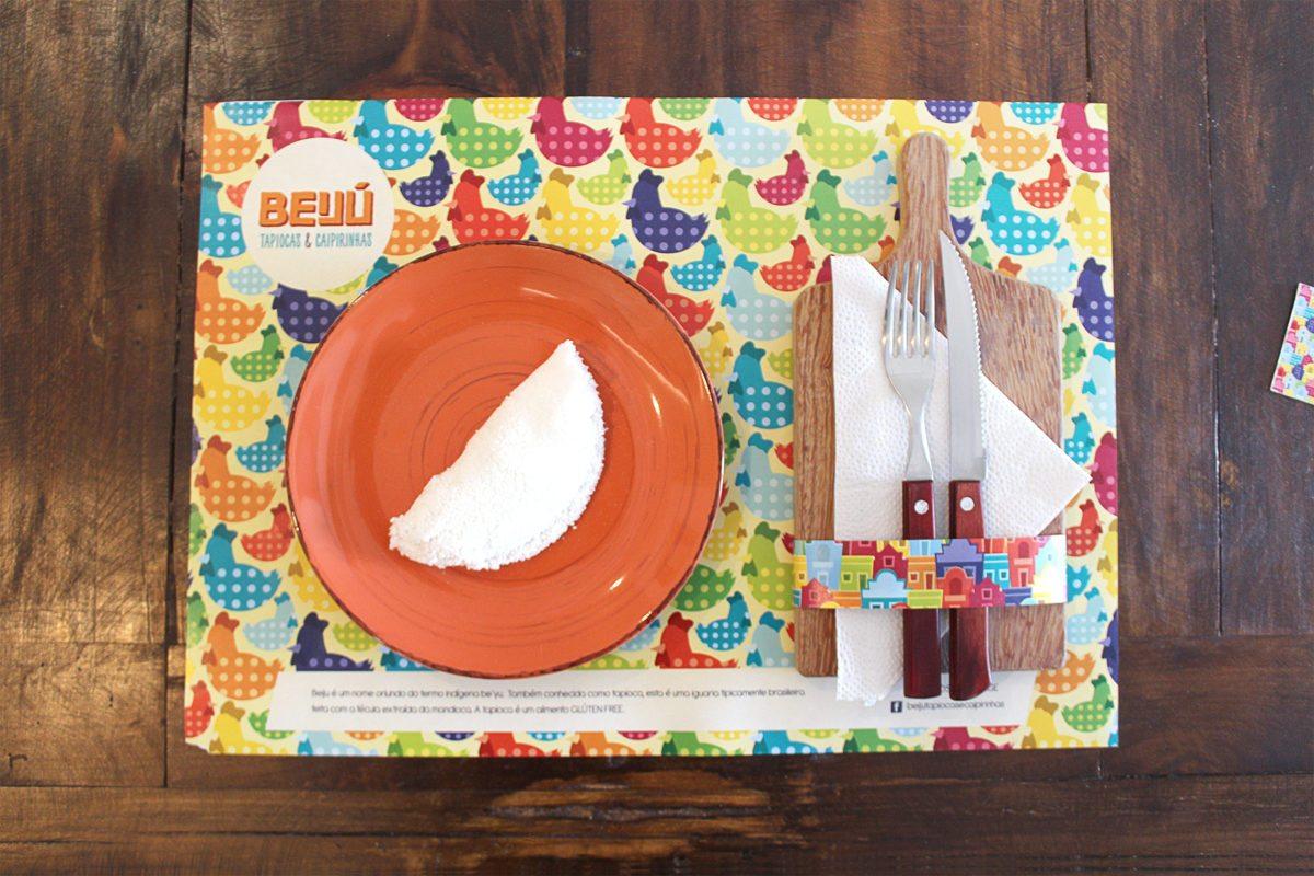 Beiju tapiocas & caipirinhas restaurant branding and design by Bigode Ideias in Brazil