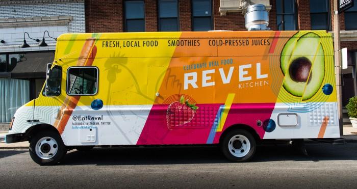 Revel Kitchen restaurant branding food truck by AtomicDust