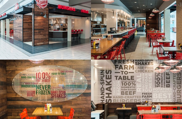 Johnny Rockets rebranding & interior design prototype by WD Partners