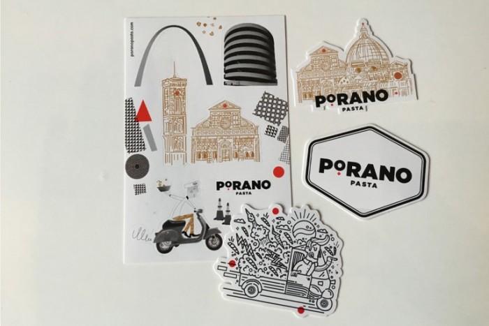 Porano-Pasta-Restaurant-Custom-Illustrated-Stickers-768x512