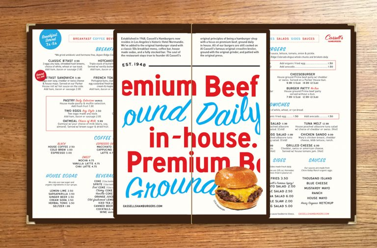 Cassell's Hamburgers restaurant branding and design by Gold Hour in Los Angeles, CA