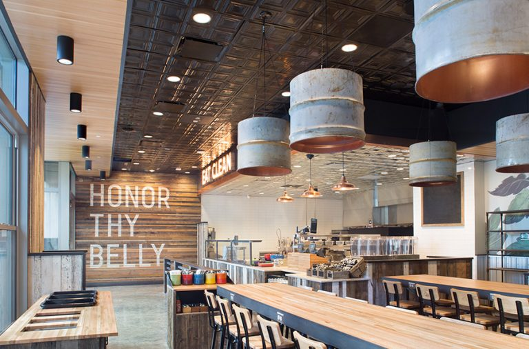 Honor Society restaurant interior design by Rowland Broughton Architects in Denver, Colorado