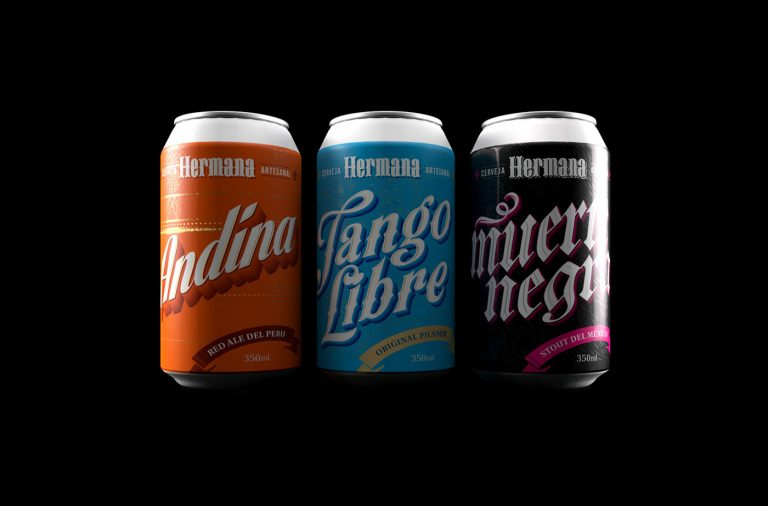 Hermana craft beer branding & package design by Alexandre Fontes & Renata Venturini from Brasil