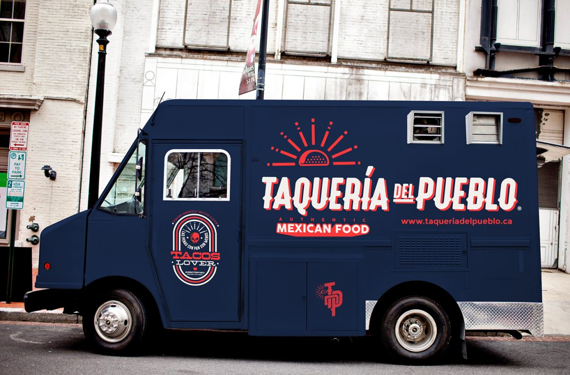 Taqueria del pueblo food truck branding grits grids for Food truck blueprint