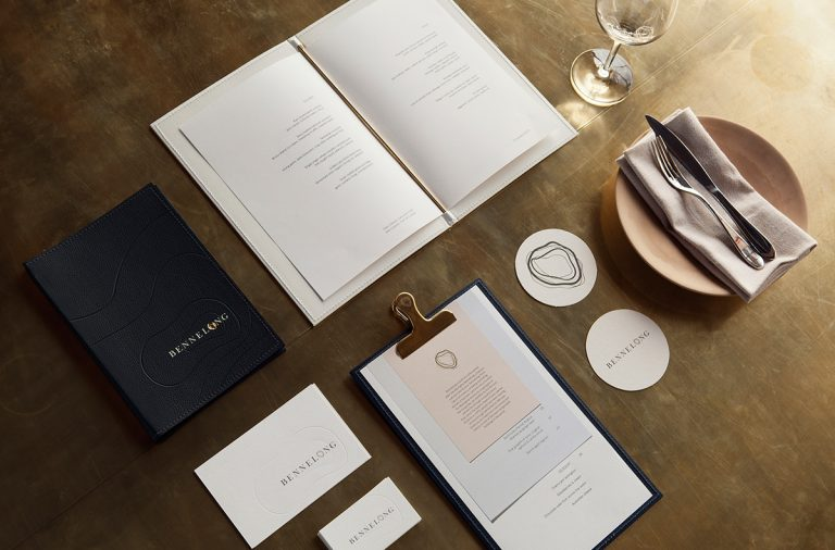 Bennelong fine dining full service restaurant branding by Laura Jones, Elliott Walsh and Pierre-Antoine Gilles in Sydney Australia