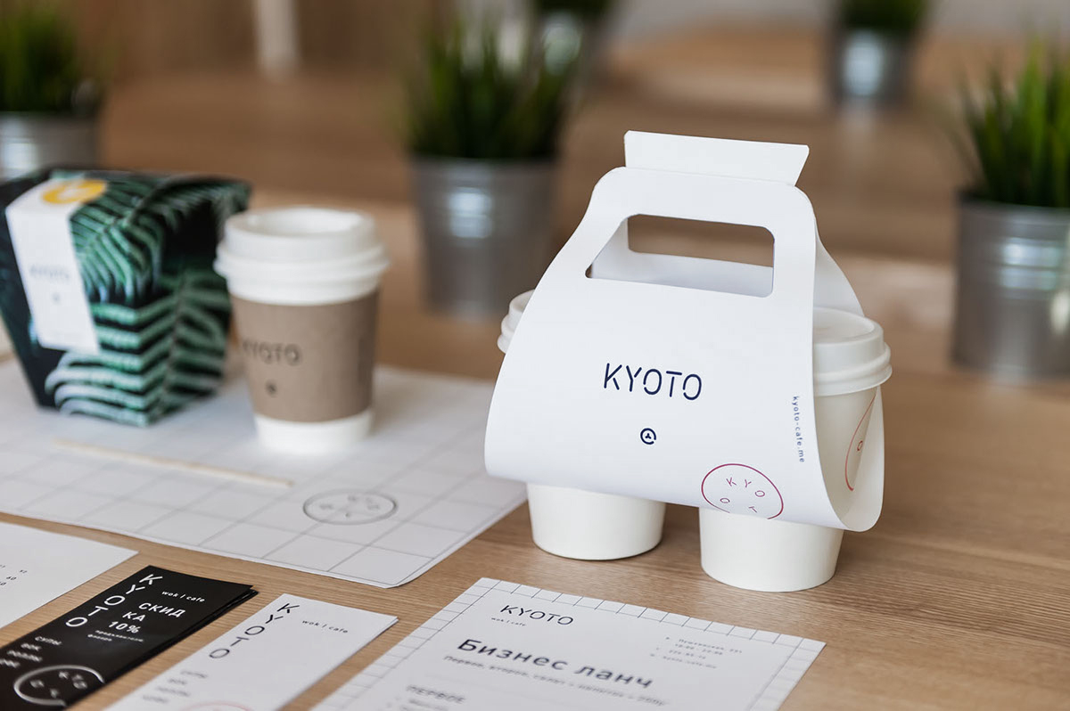 Kyoto Wok Cafe branding and interiors in Russia