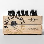 Molly Bloom's iris pub and restaurant branding by Richard Marazzi in Toronto Canada