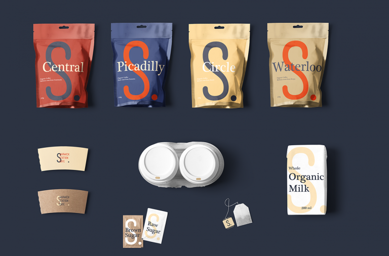 Warwick Station Cafe coffee branding by Studio Vanila in Brazil