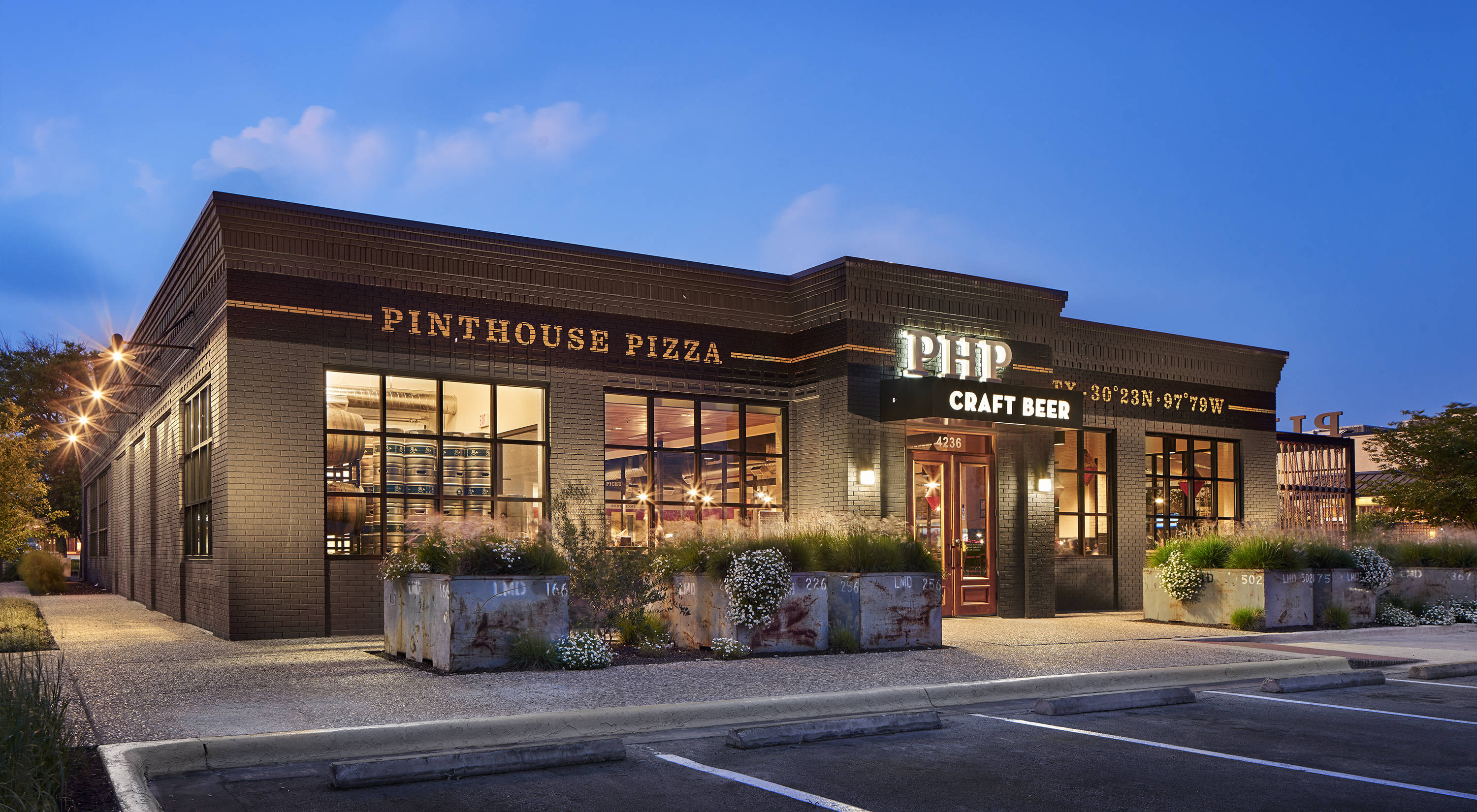 Pinthouse Pizza restaurant and beer branding by Helms Workshop in Austin, Texas