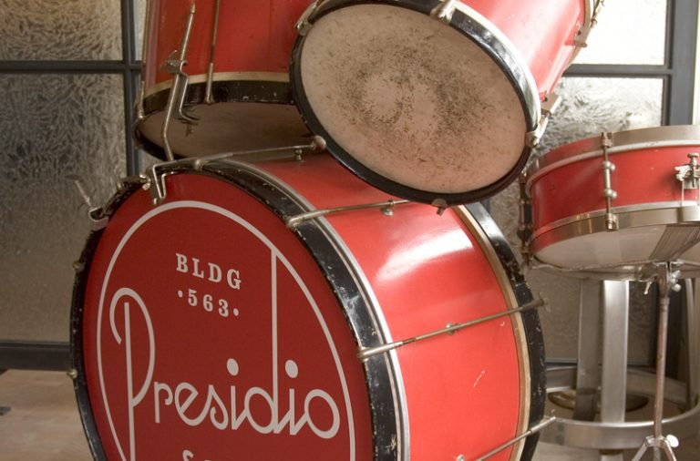 Presidio Social Club restaurant and bar branding by Strohl and Mucca in San Francisco, California
