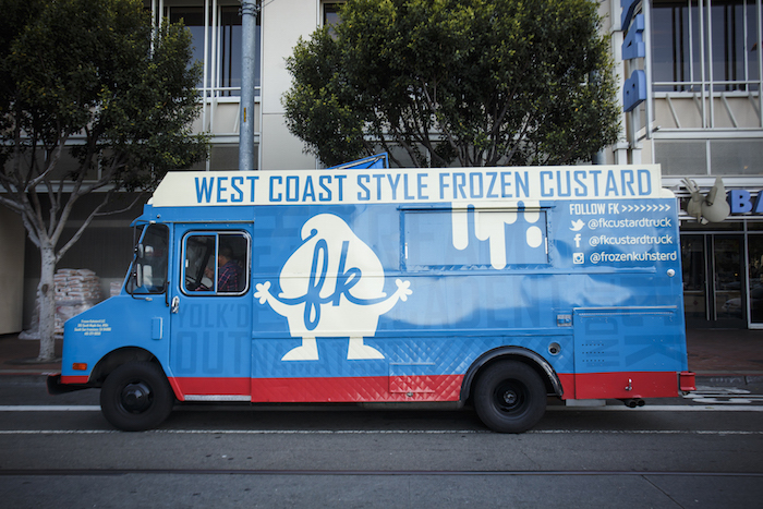 FK custard food truck branding and design by Plinth Agency