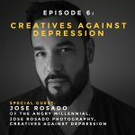 Podcast episode with Jose Rosado, creatives against depression, the angry millennail