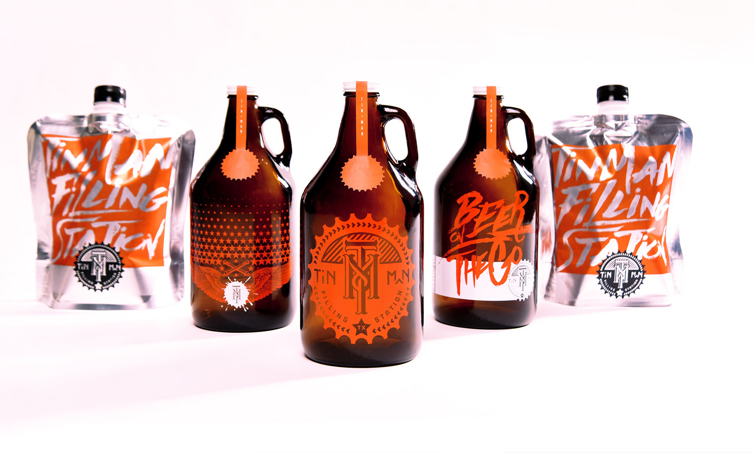 Tin Man filling station craft beer branding and packaging by EME Design Studio in Texas