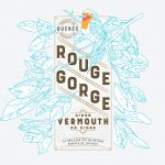 Rouge Gorge vermouth spirits branding and package design by Polygraphe in Canada