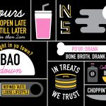 NIghtshift bao bun restaurant food truck branding by Five & Dime