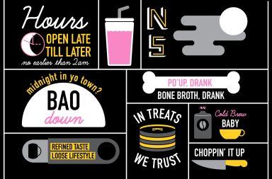 NIghtshift bao bun restaurant food truck branding by Five & Dime