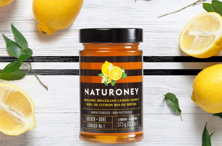 Honey branding and packaging design by LG2 Boutique in Montreal and Quebec Canada