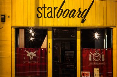 Starboard restaurant and bar branding and design by Wyne Enterprises in San Francisco California