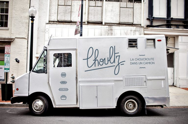 Choultz food truck branding and design by William Wechter in Montreal Canada