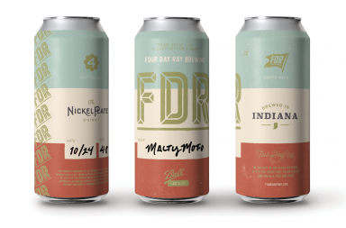 Four Day Ray craft beer brewery branding by Pivot Marketing in Indianapolis, Indiana