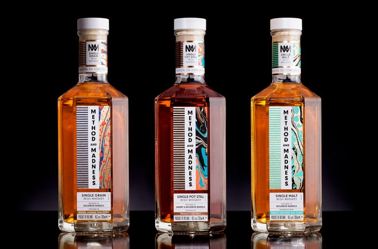 Method and Madness irish whisky whiskey branding and packaging design by M&E Design