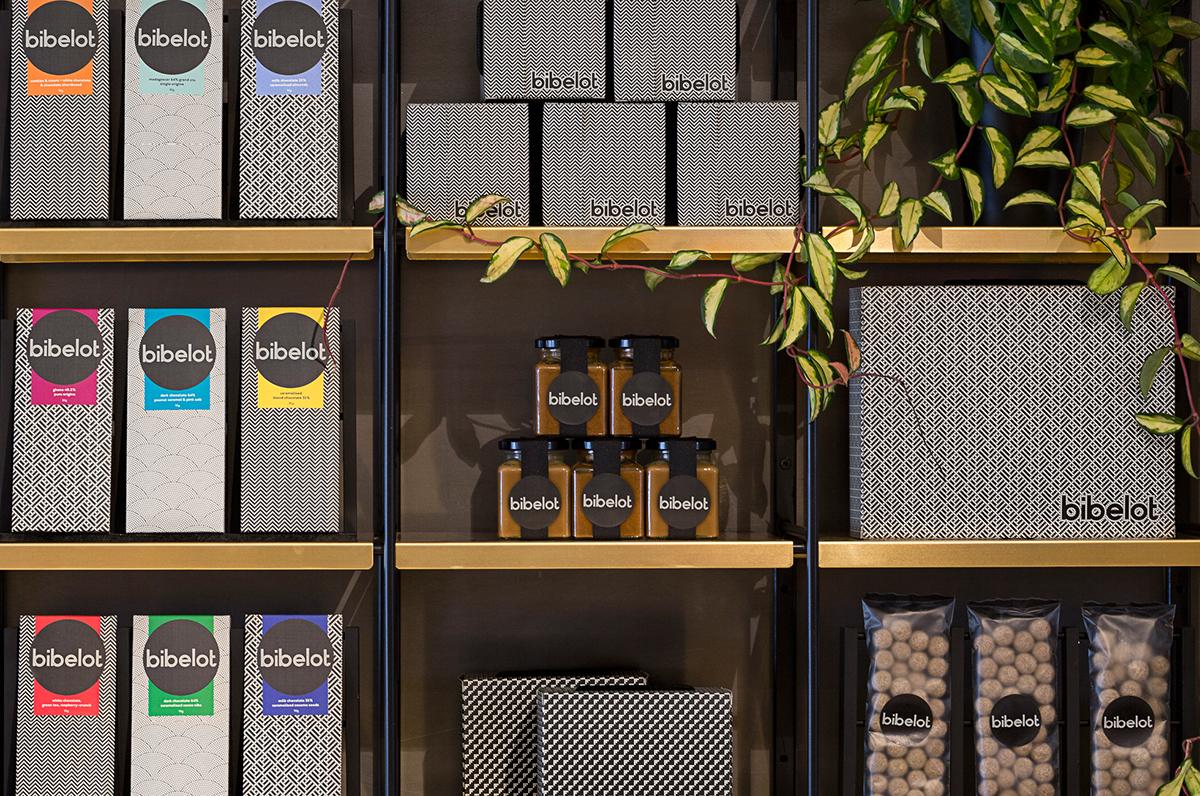 Bibelot patisserie cafe branding grits grids for Bibelot deco