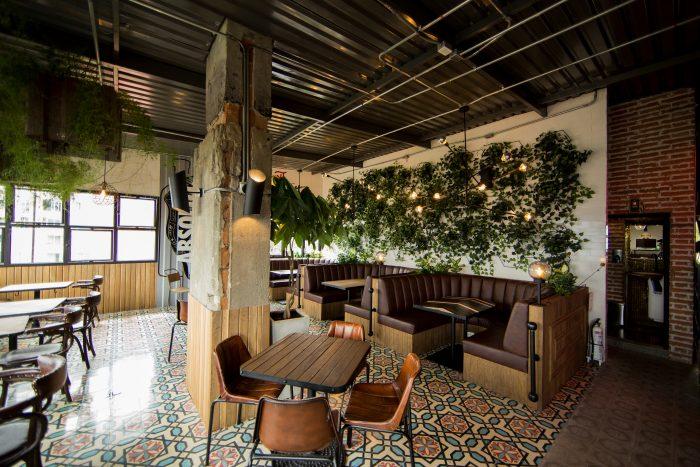 La Roquesa Restaurant Bar Interior Design Grits Grids