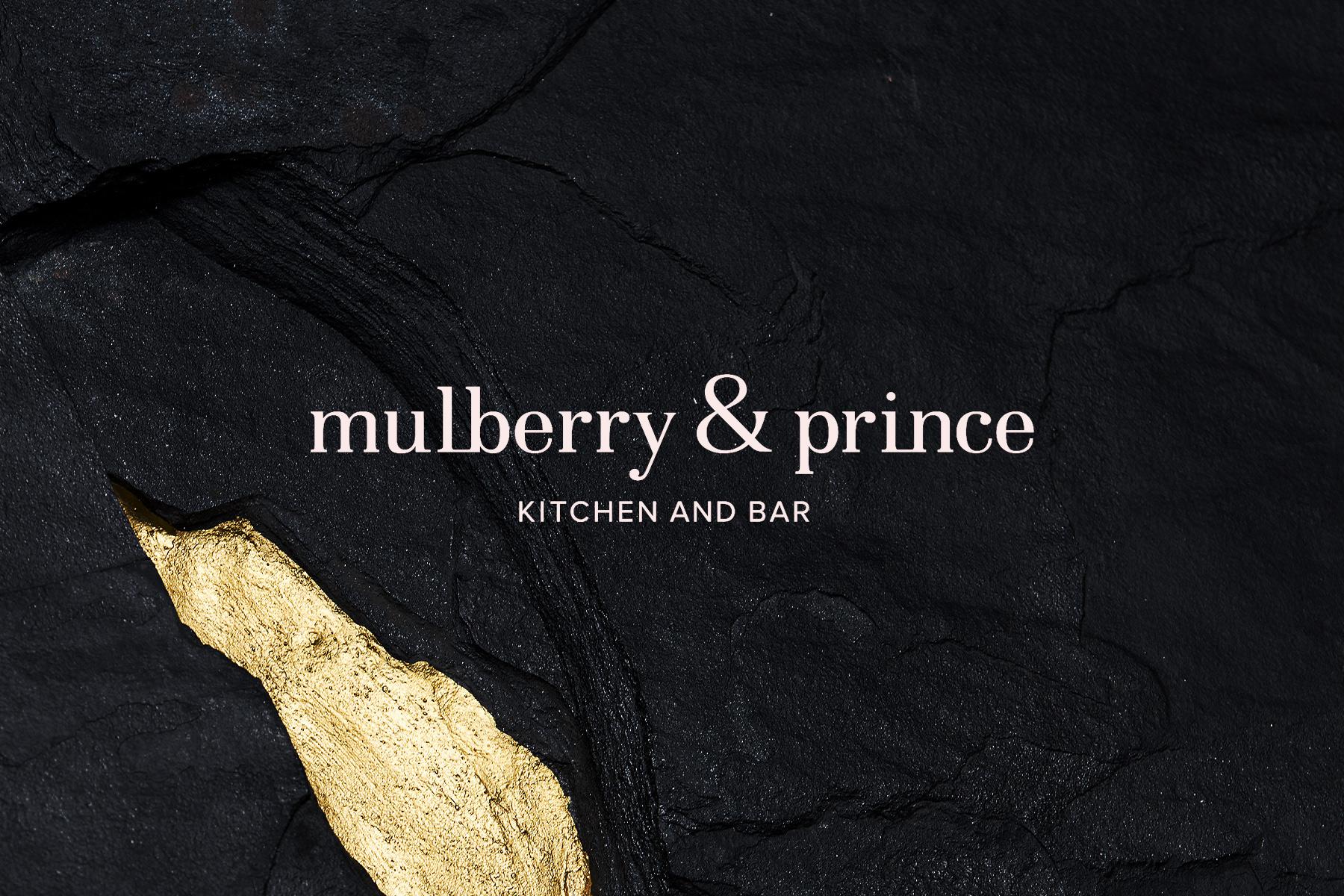 Mulberry & Prince restaurant and bar branding and design by Kim Van Vuuren & Atelier interior design studio in South Africa