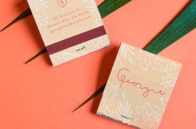 Georgie by Geoffrey Zakarian restaurant branding and design by Sandy Ley in Los Angeles, California