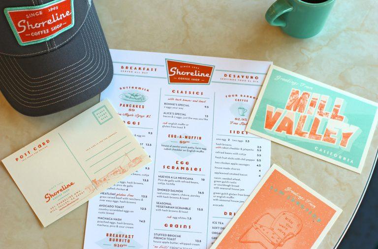 Shoreline Coffee Shop branding and design by VK Design in California