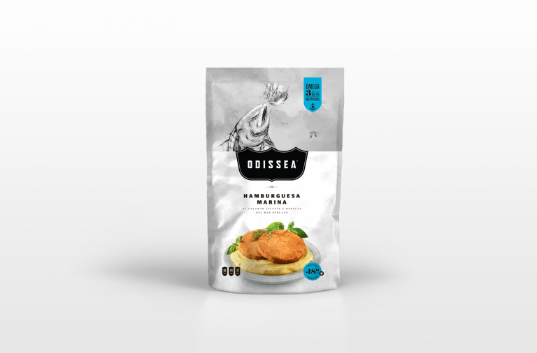 Odissea seafood packaging design CPG FMCG branding by The Brandlab in Lima, Peru
