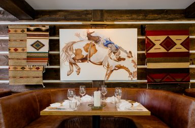 Chuck's Steakhouse restaurant branding by Glasfurd Walker in Canada